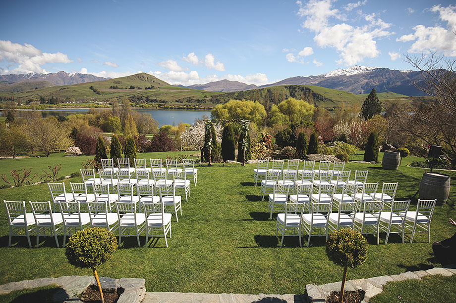 Chapel by the Lake garden wedding ceremony