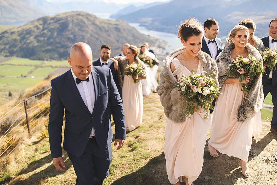 Queenstown wedding party