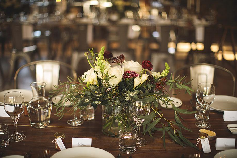Peregrine winery wedding flowers