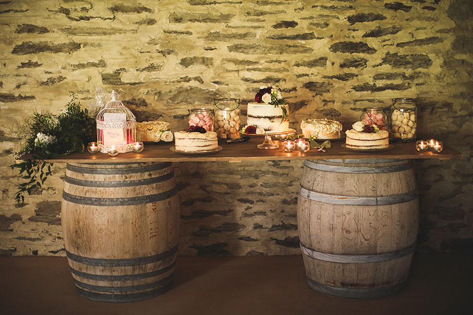 Sweets table at Peregrine Winery