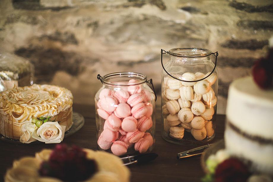 Dessert display at Peregrine Winery
