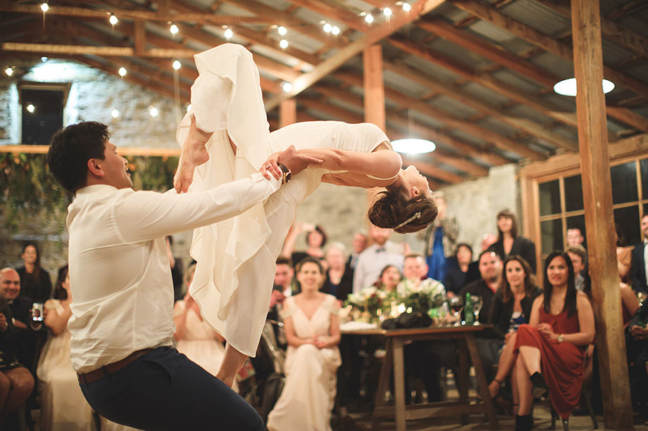 First dance at Peregrine Winery