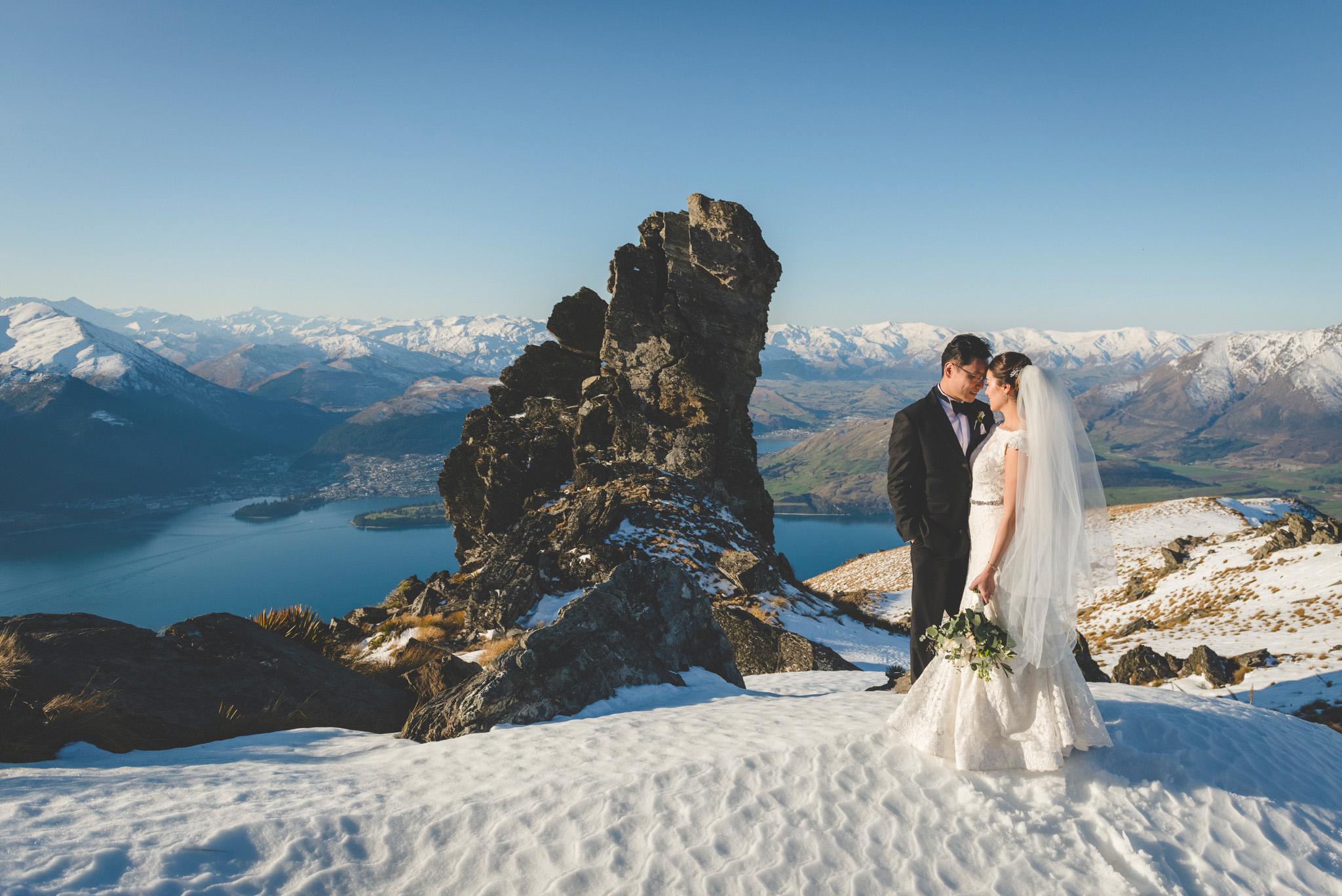 Queenstown cecil peak wedding photos
