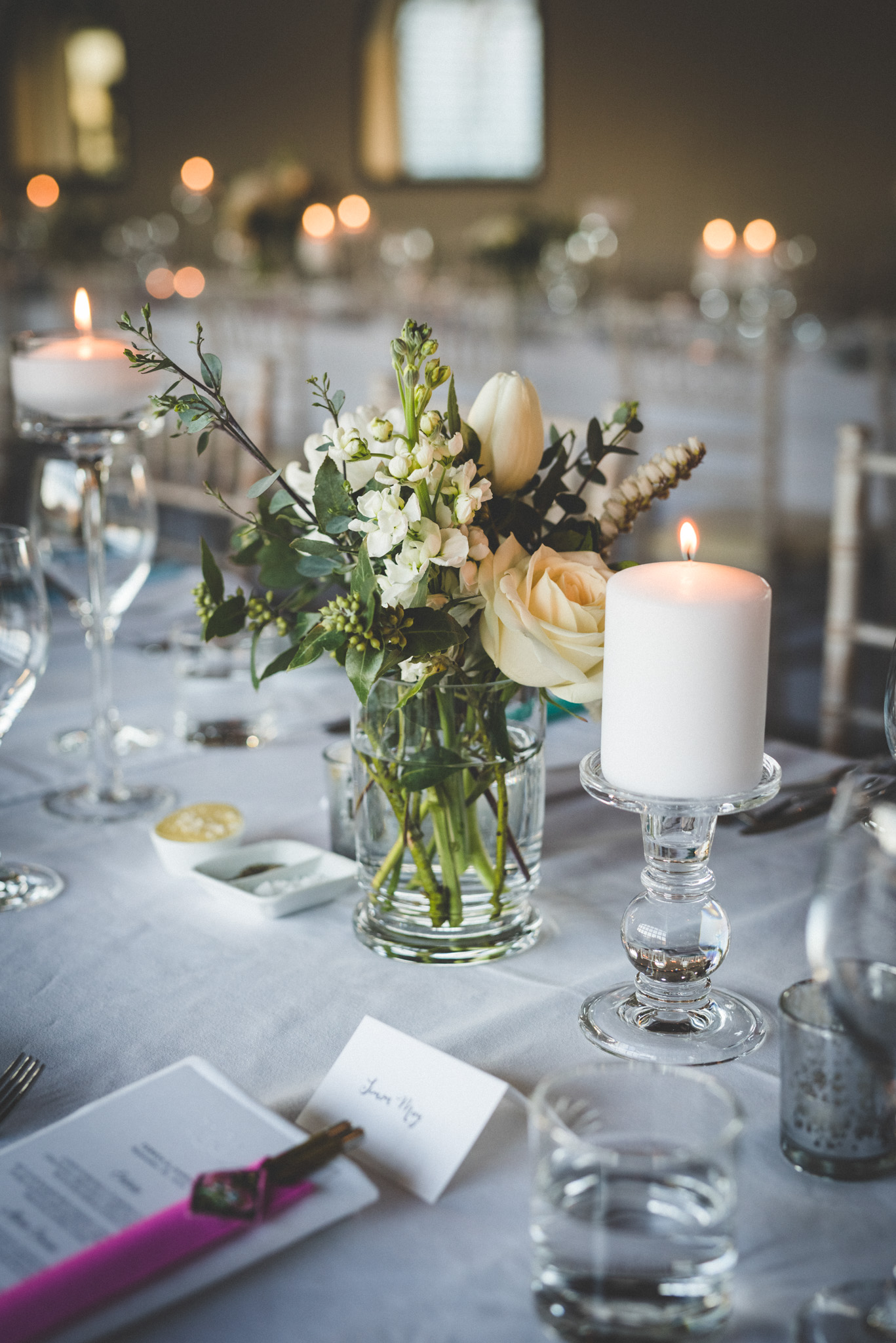 wedding table decor by mount soho wedding stylist