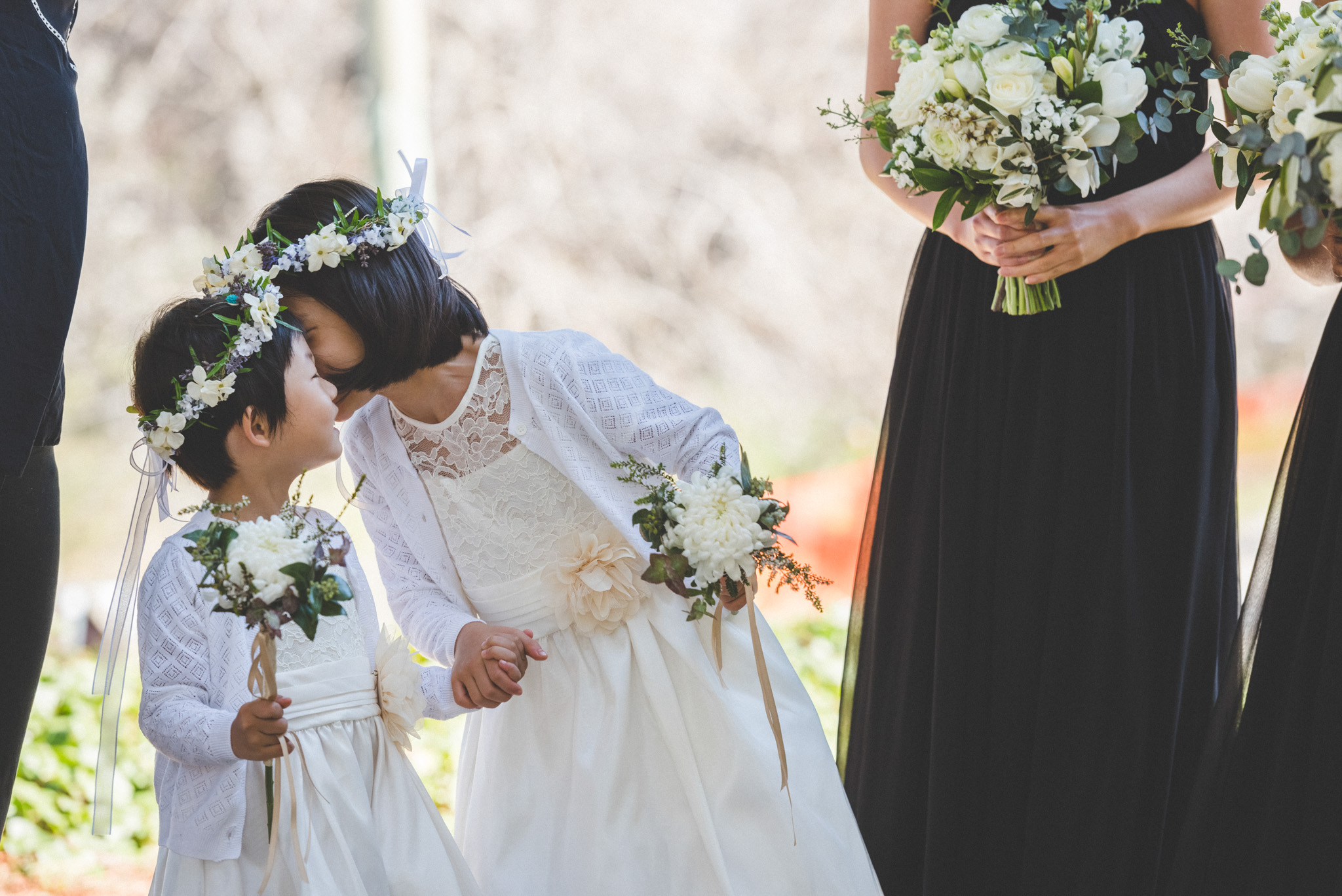 flower girl attire and flowers