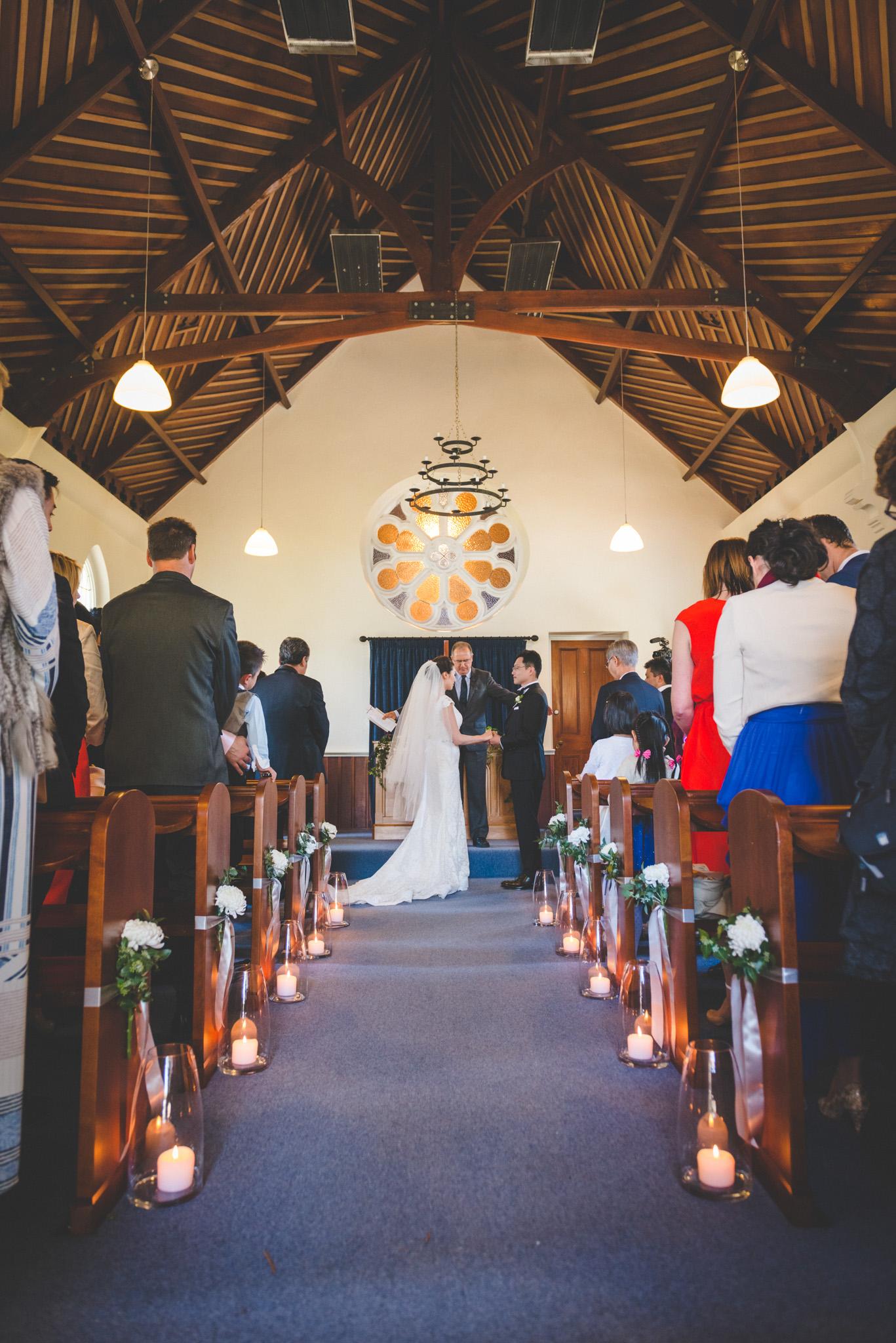 Church ceremony in Queenstown NZ