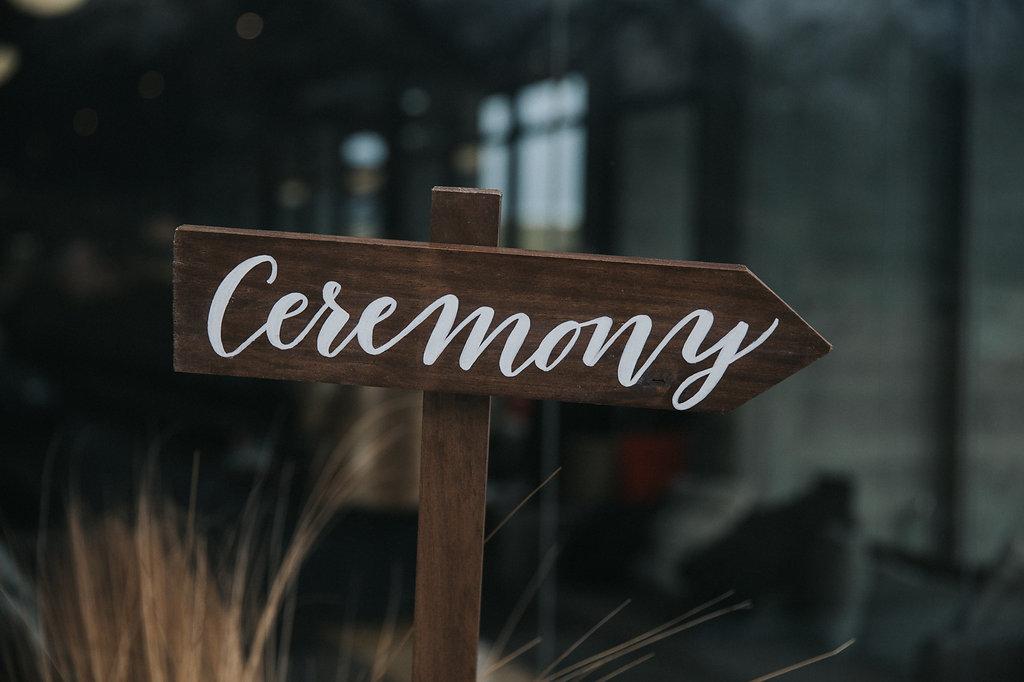 Queenstown wedding hire signage