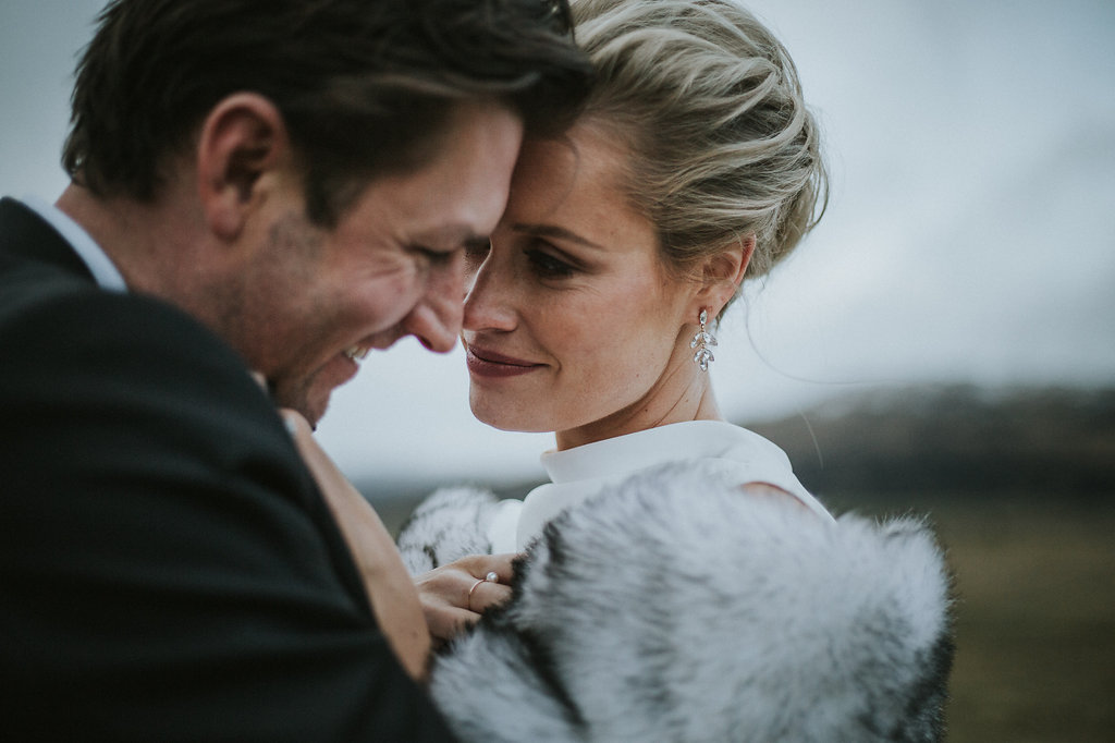 Winter wedding attire in Queenstown