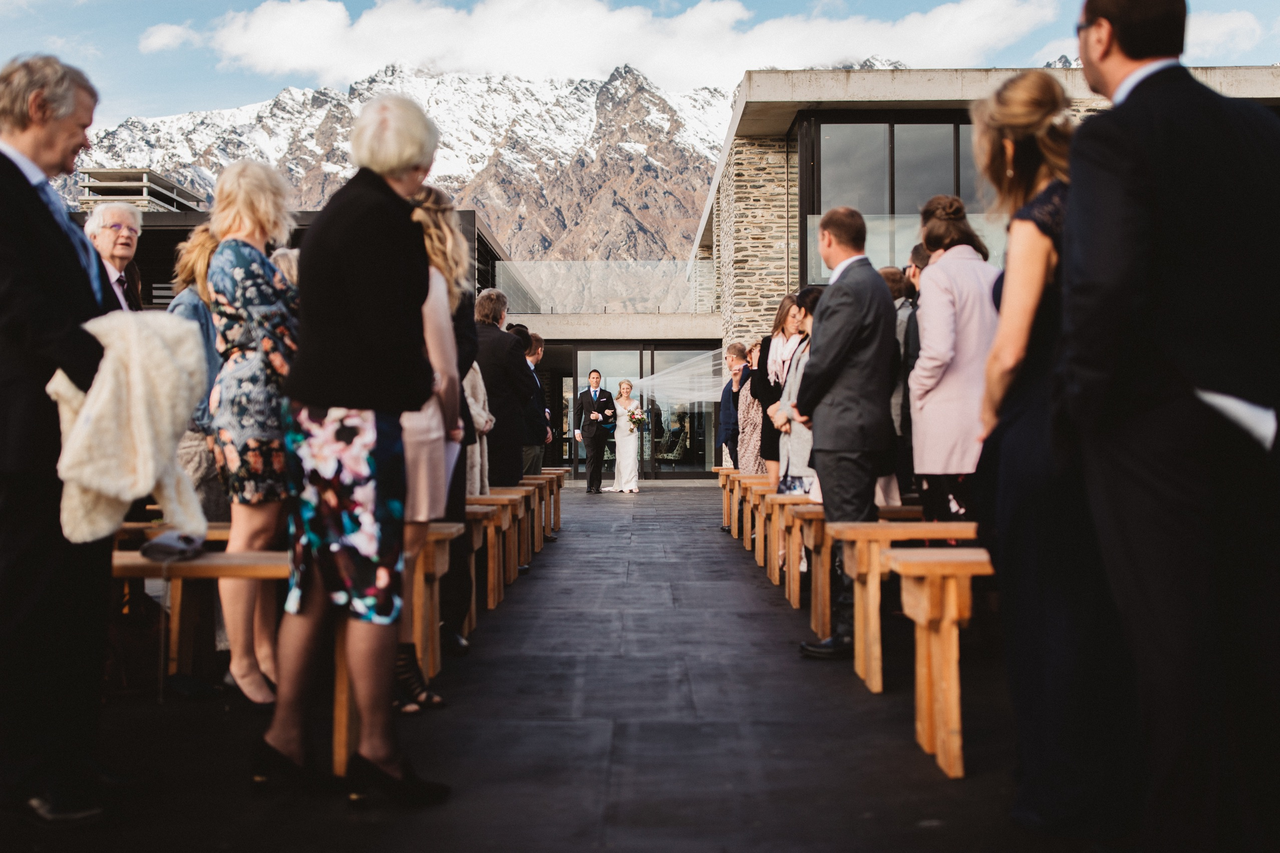 private home walking down the aisle in queenstown nz