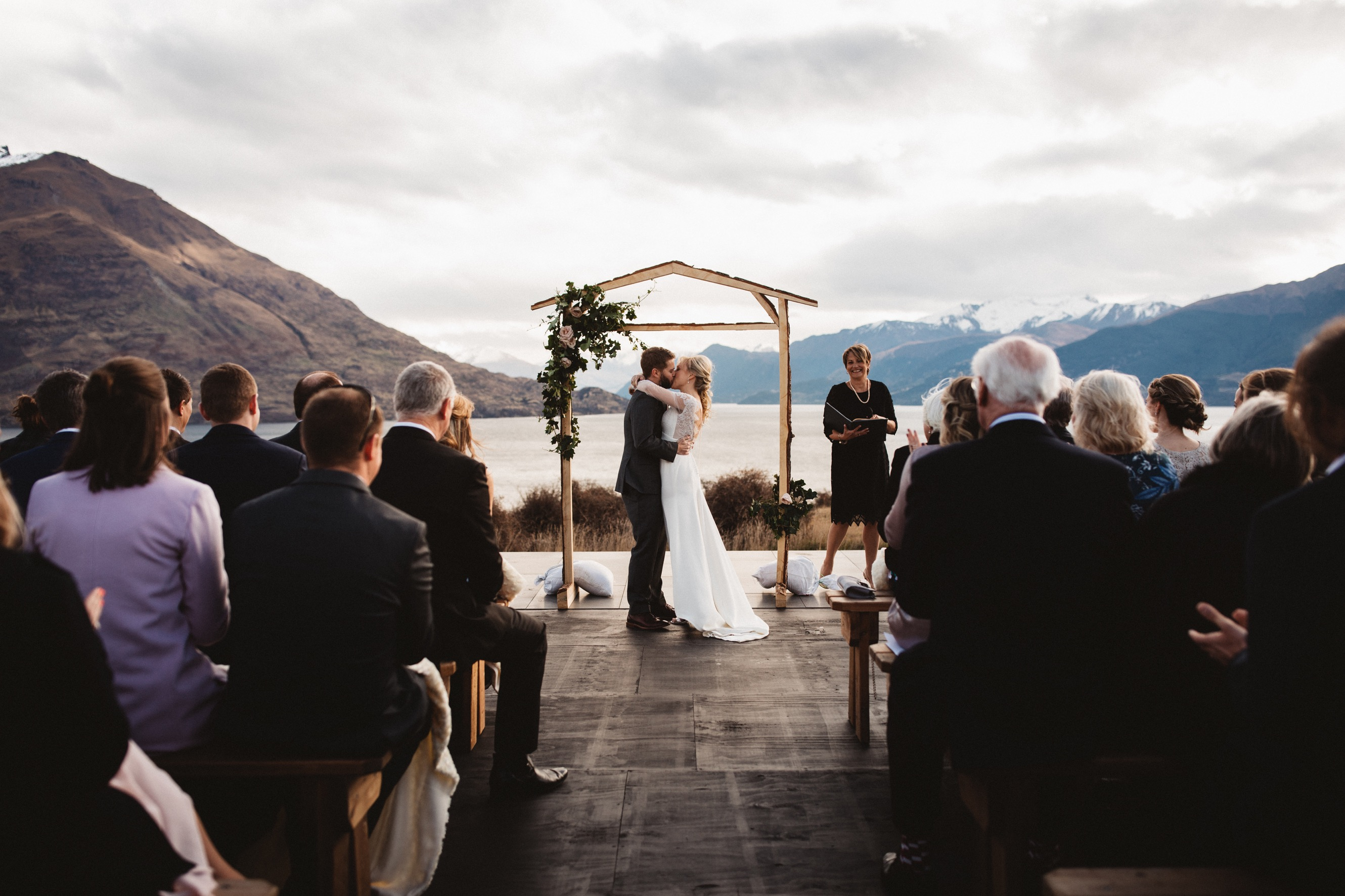 lakeside ceremony at jacks point private home