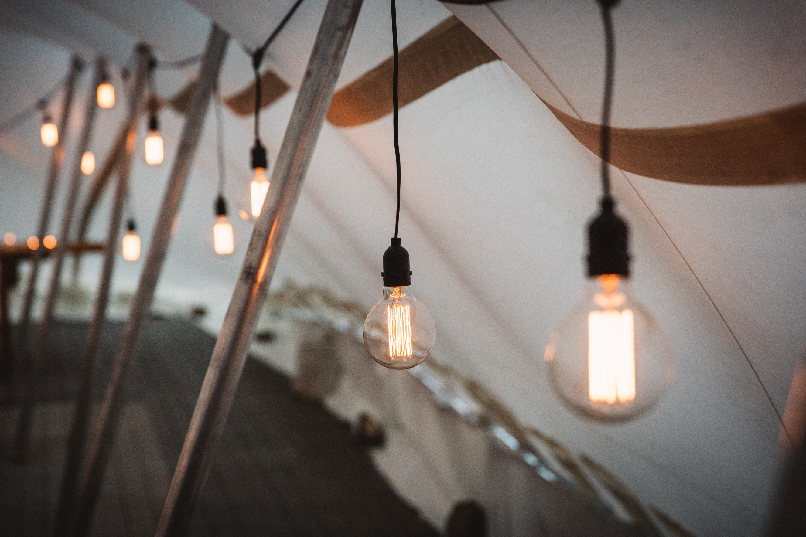 Festoon wedding lights in Queenstown NZ