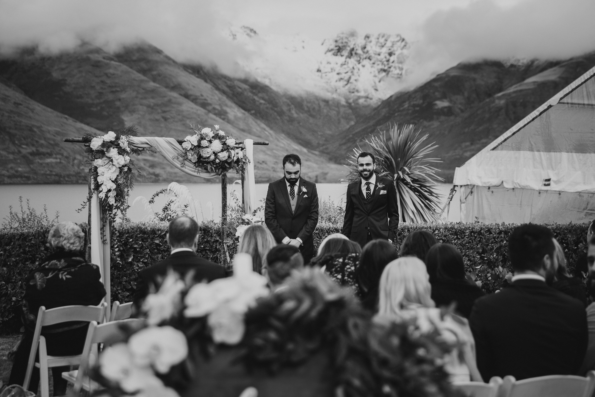 Matakauri Lodge winter wedding in Queenstown NZ