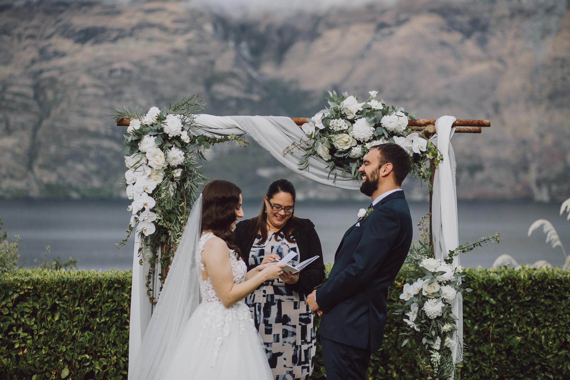 Wedding ceremony in Queenstown NZ