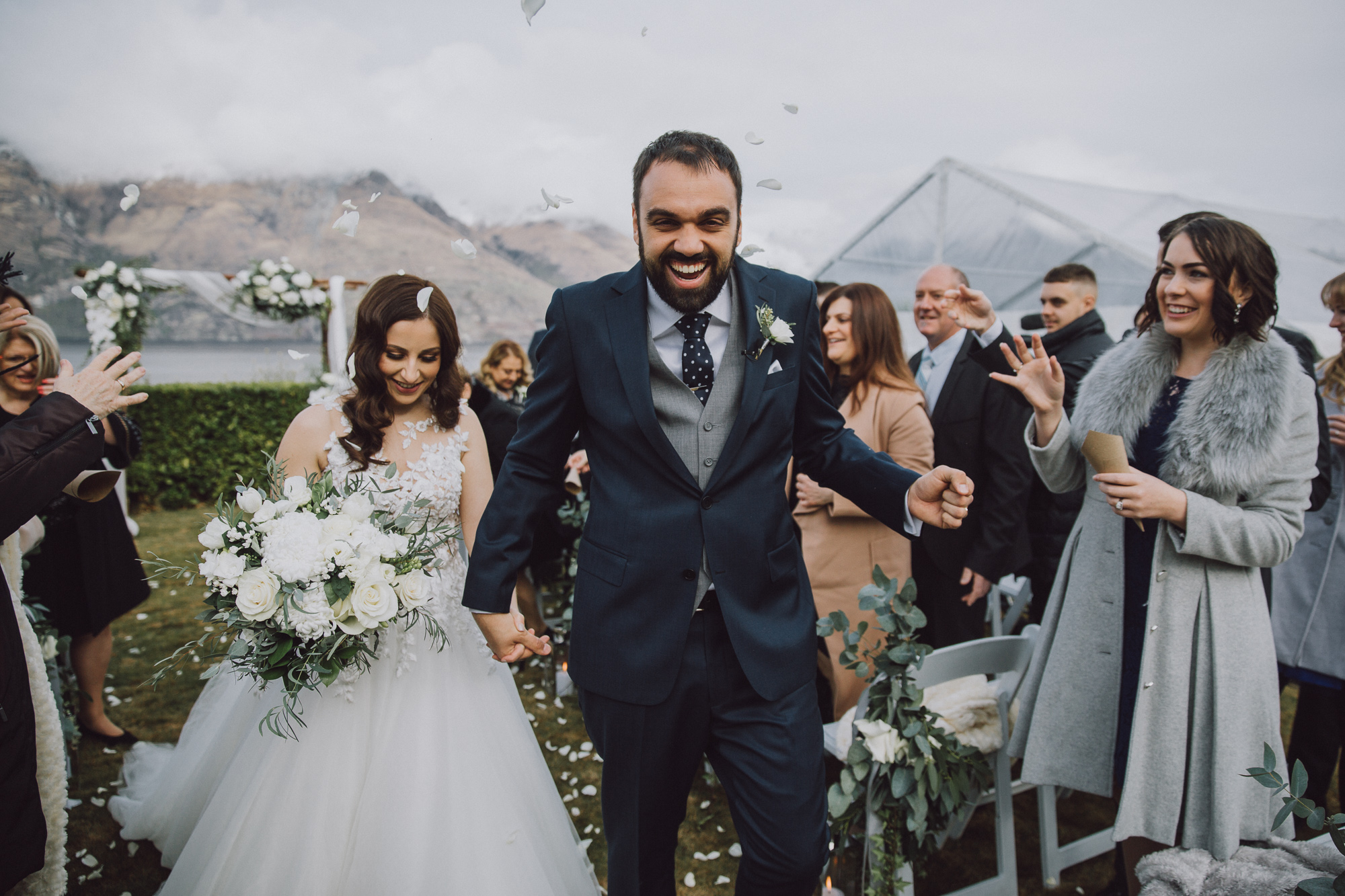 Matakauri Lodge winter wedding