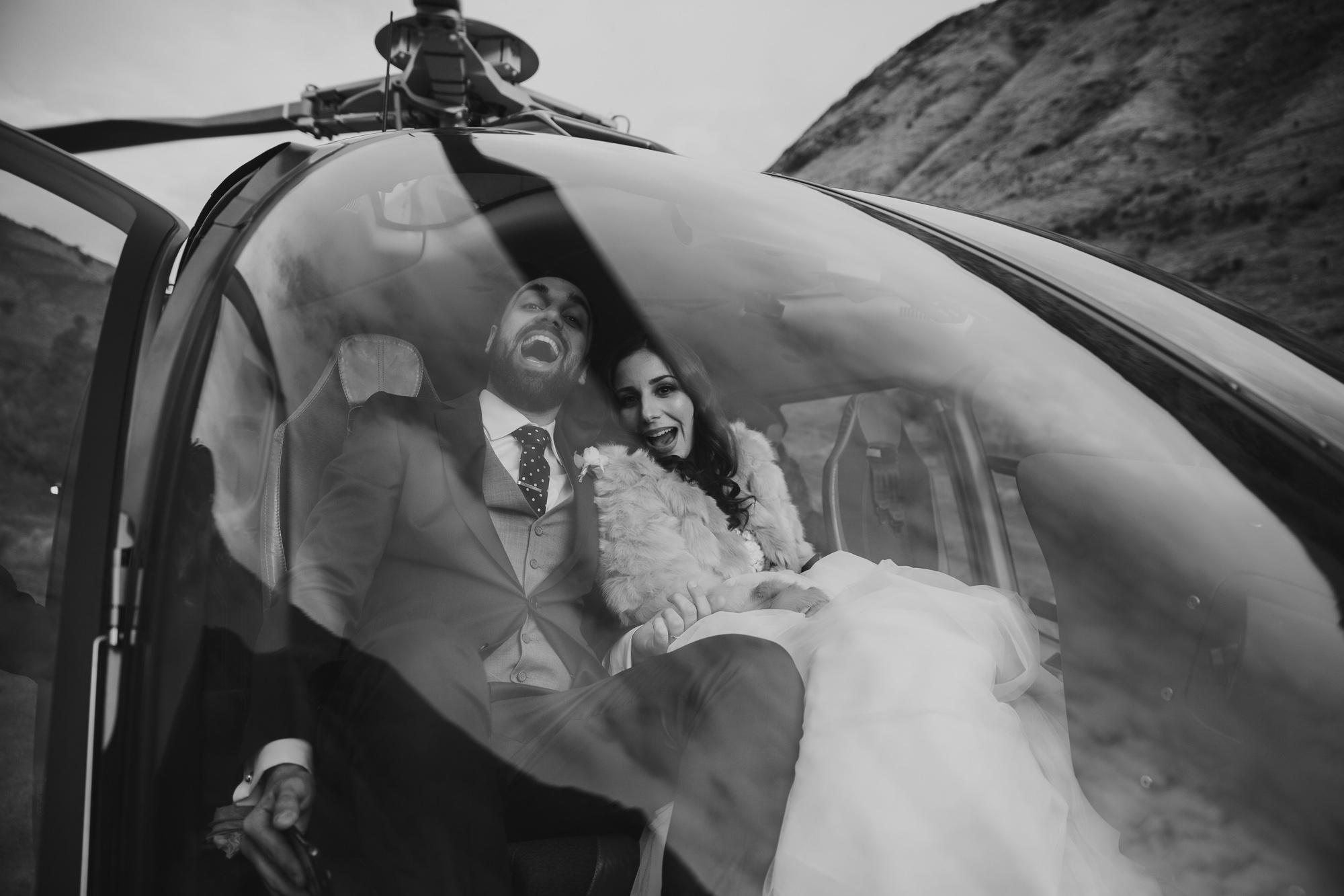 Heli Wedding photos in Queenstown New Zealand