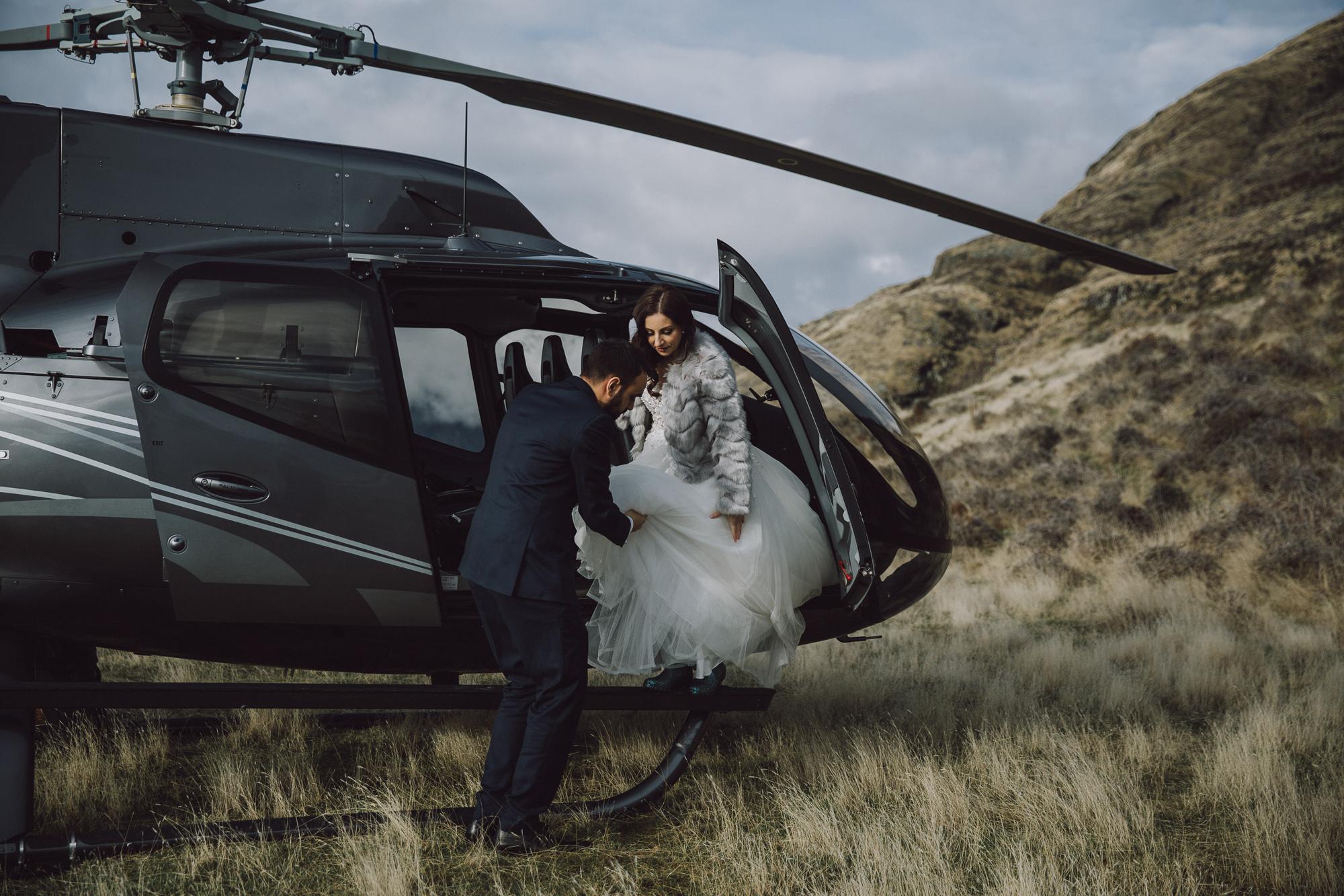 Destination Heli Wedding in Queenstown NZ