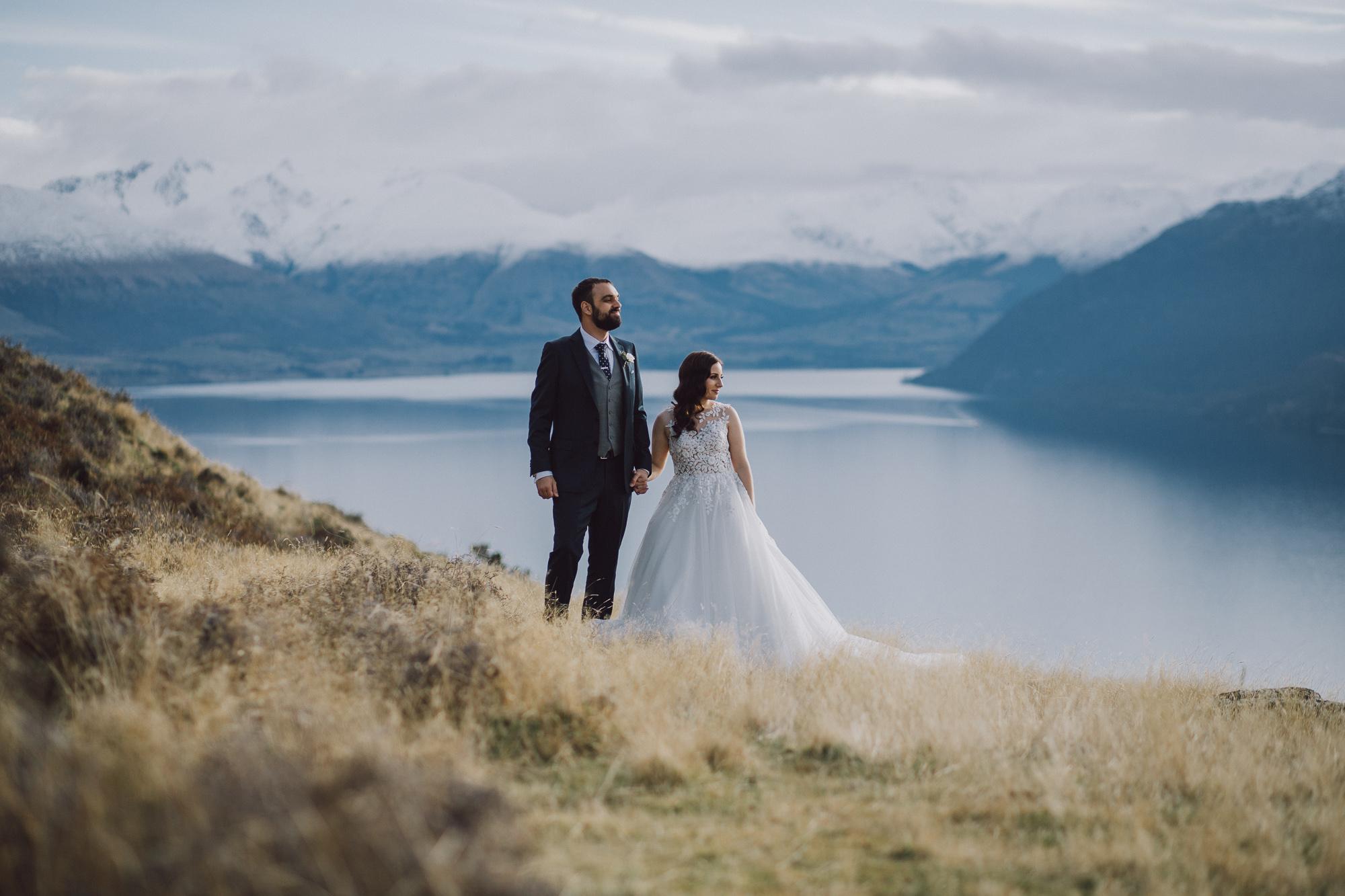 Cecil Peak Heli Wedding Mountain photos