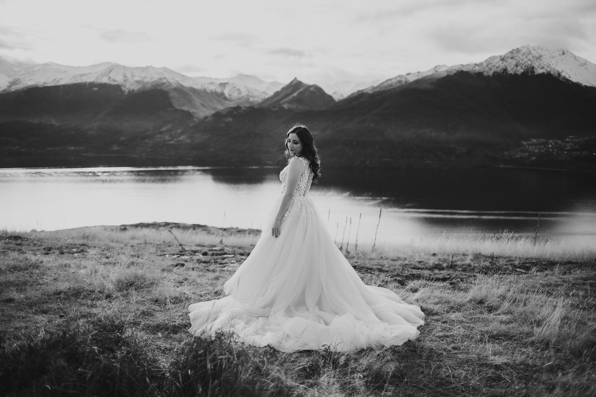 Cecil Peak Heli Wedding Photos