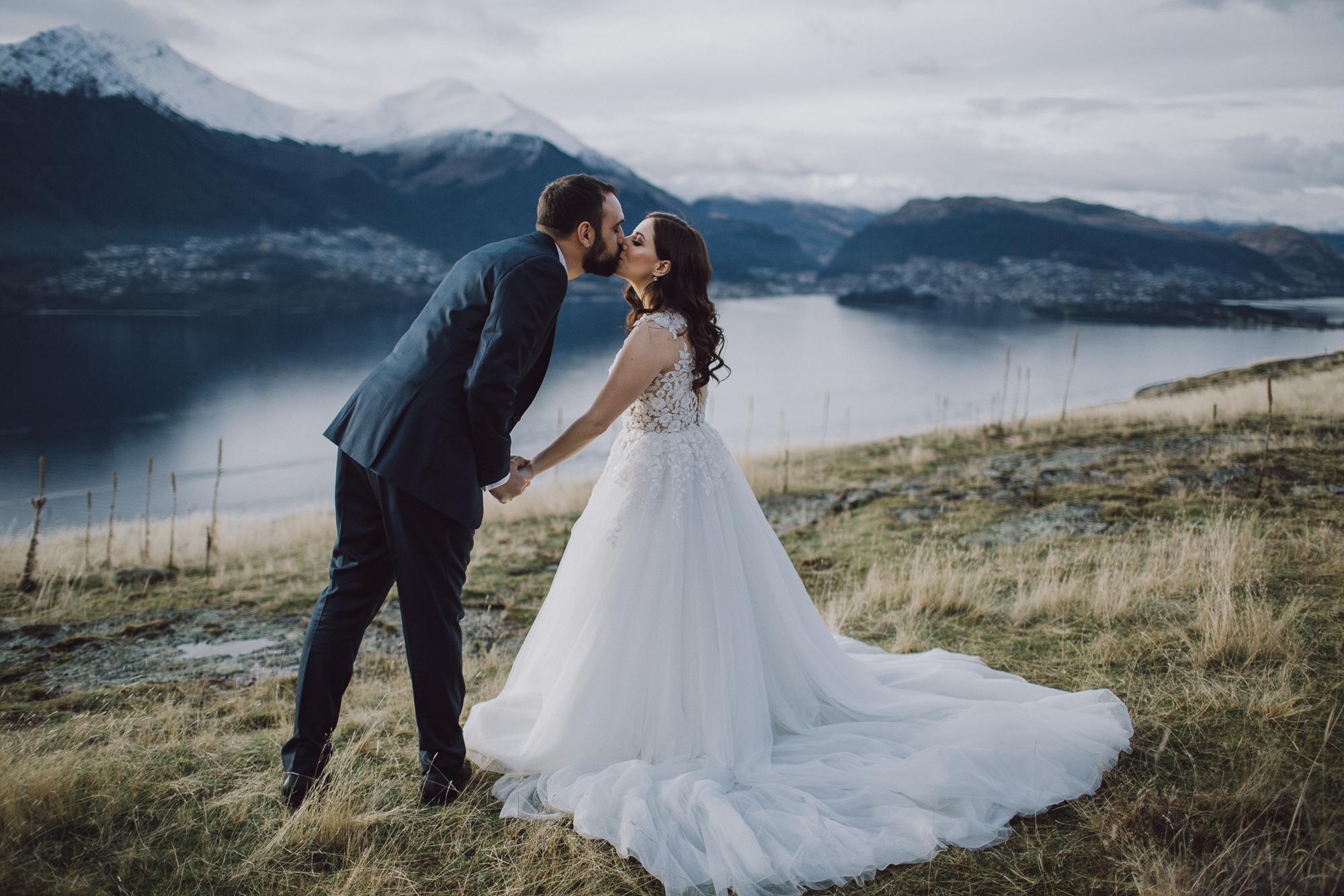 Cecil Peak mountain top photos for destination wedding