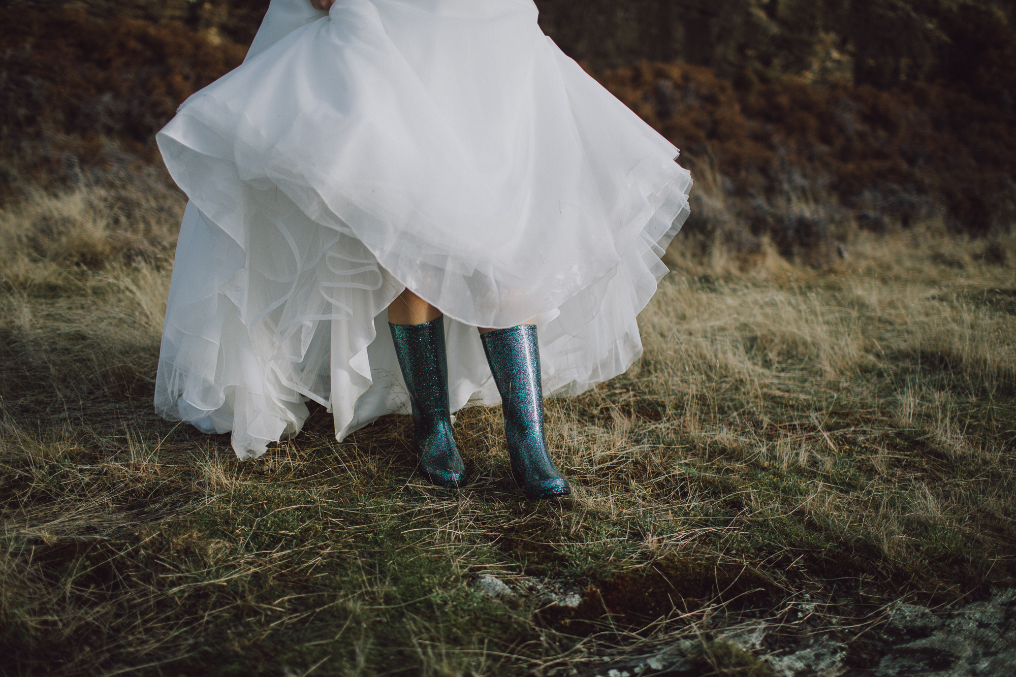 what to wear on your feet for heli wedding in Queenstown NZ