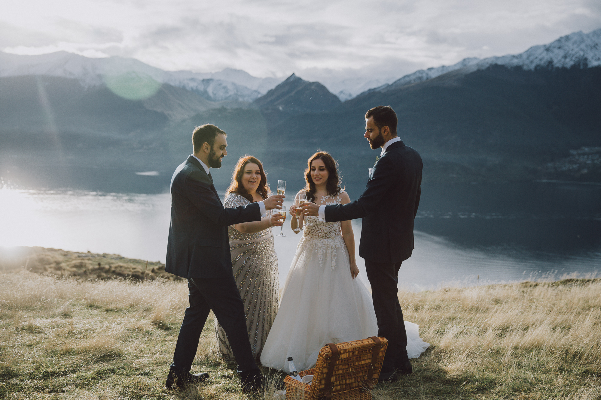 Queenstown Heli Wedding Planning for Mountaintop Photos at Cecil Peak