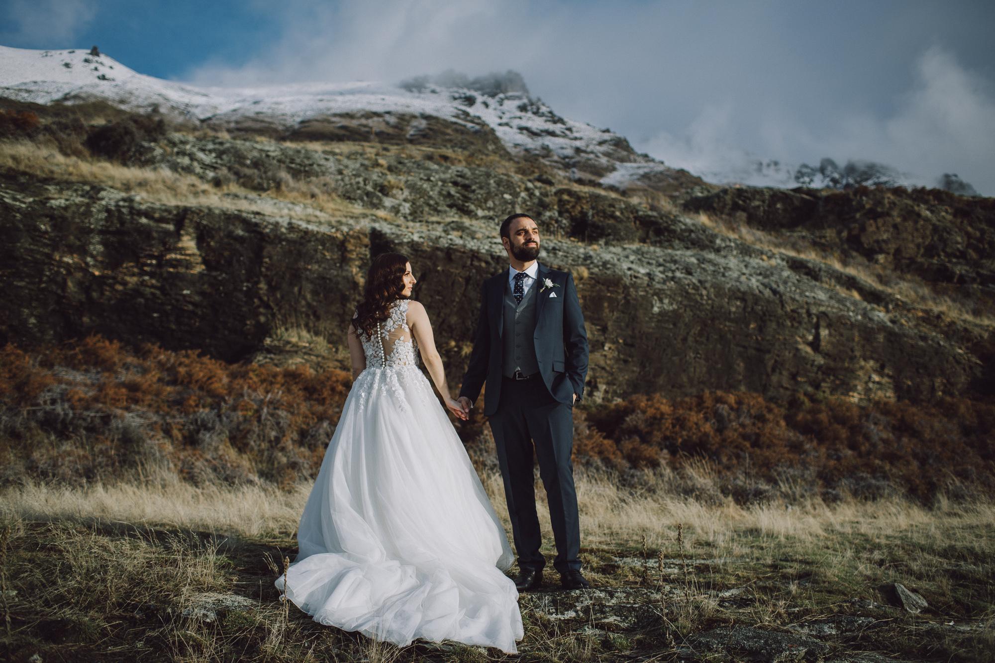 Queenstown Cecil Peak Heli Wedding