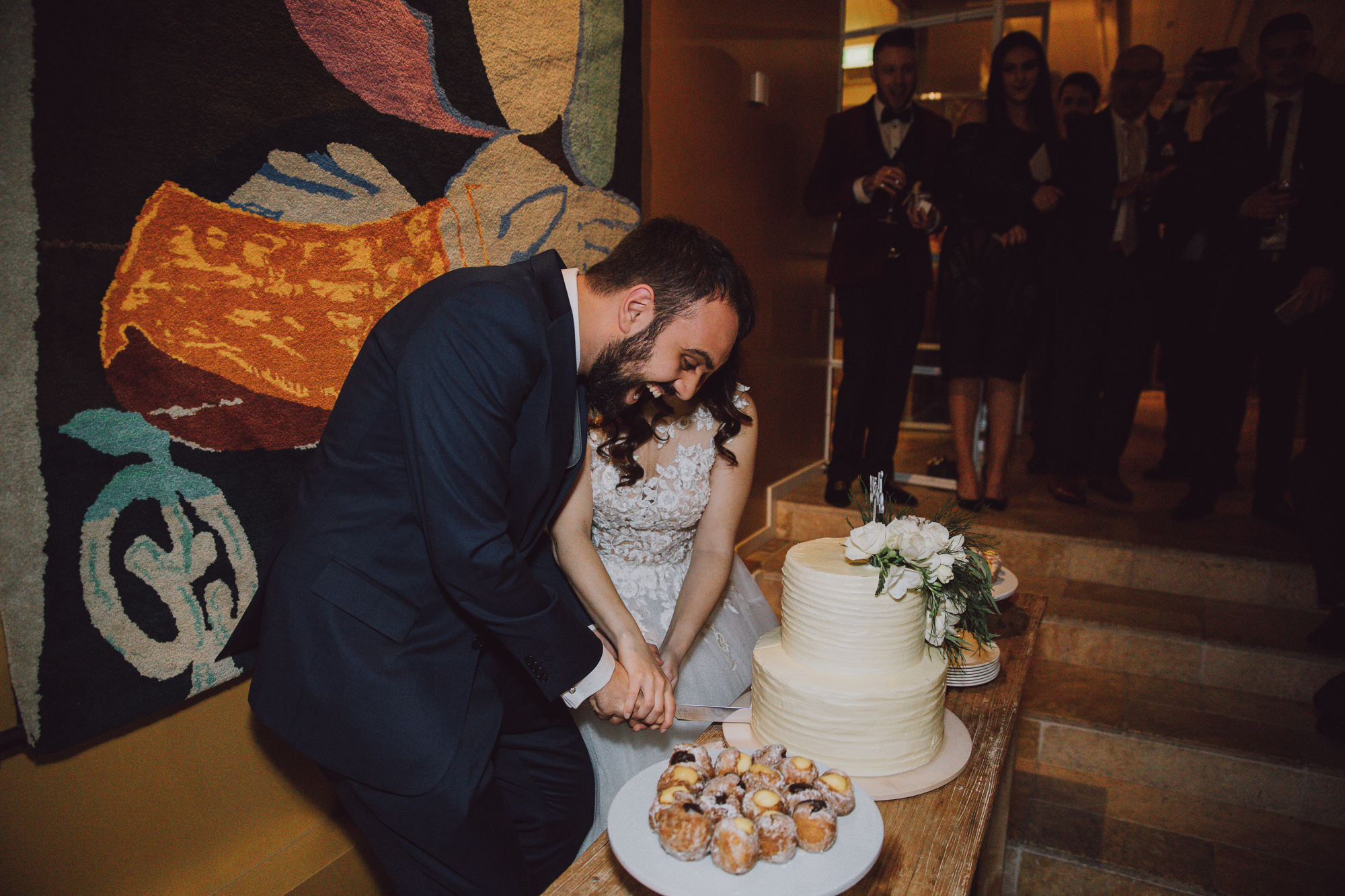 Wedding cake at Matakauri Lodge