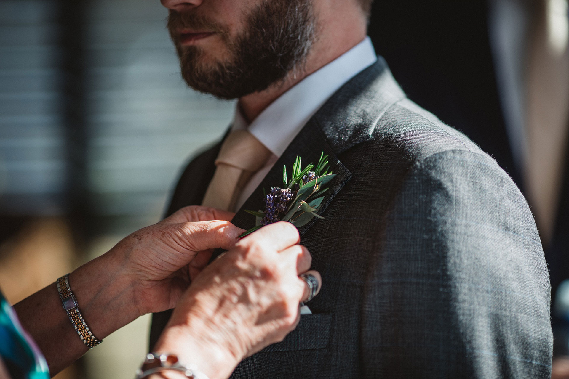 Queenstown Wedding Buttonhole at Jacks Point