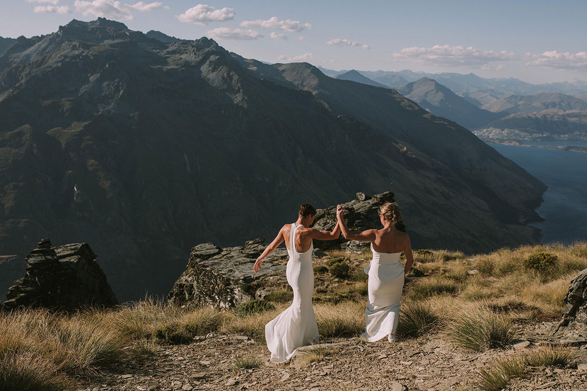 Gay Destination Heli Wedding In Queenstown NZ