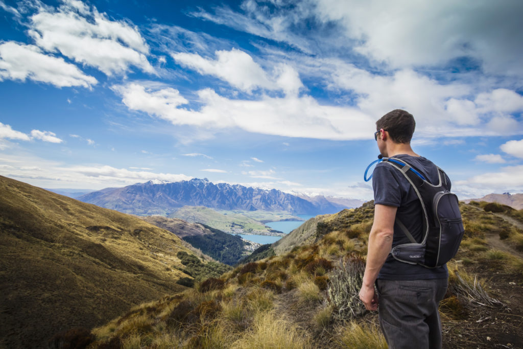 Beautiful scenery hiking to Ben Lomond summit, the best full day hike in Queenstown